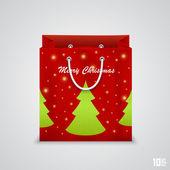 Christmas paper bag — Stock Vector