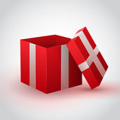 Red gift box — Stock Vector