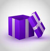 Purple gift box — Stock Vector