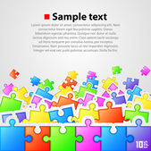 Puzzle background — Stock Vector