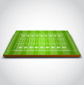 Vector illustration of Rugby Field — Stock Vector