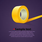 Roll of clear sticky tape vector background — Wektor stockowy