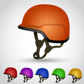 Color set of vector helmets — Stock Vector