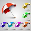 Colored umbrellas — Stock Vector