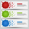 Vector header banner template — Stock Vector