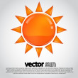 Vector sun illustration — Stock Vector