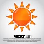 Vector sun illustration — Stock Vector #34897105