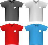 T-shirts template — Stock Vector