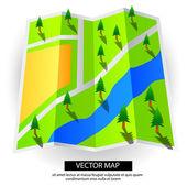 Mapa wektor dokument drzewa — Wektor stockowy