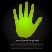 Vector green hand background — Stock Vector