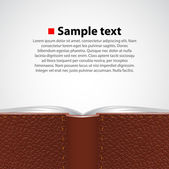Vector opened leather book background. — Stock Vector
