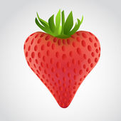 Vector strawberry heart — Stockvector