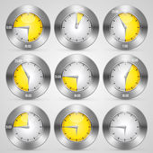 Clock with time stamp — Stock Vector