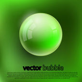 Bubbles on a green background. — Stockvektor