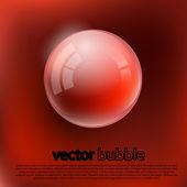 Burbujas sobre un fondo amarillo. — Vector de stock