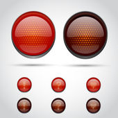 Traffic lights symbols — Stock Vector