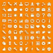 Vector white icons with drop shadow. — Stockvektor