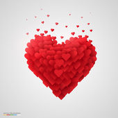 Valentines heart. — Vector de stock