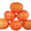 Tomatoes pyramid — Stock Photo