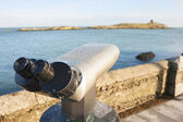 Binoculars by the Sea — Stock Photo