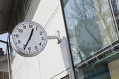 Train station with a clock — Stockfoto