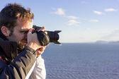 Junger erwachsener fotografieren — Stockfoto