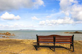 Bench in front of Sea — Stock Photo