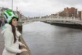 Young woman with St. Patrick's hat — Stock Photo
