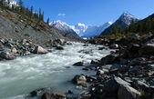 Mountain Altai. The river Akkem, a kind on the White whale — Stock Photo