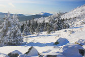 """Winter mountains. South Ural, backbone of """"Taganay"""", Russia. — Stock Photo"""