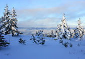 "Winter mountains. South Ural, backbone of ""Taganay"", Russia. — Foto Stock"