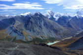 Mountain Altai. A kind on the White whale from pass Karatyurek. — Stock Photo