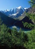 Mountain Altai. Lake Shavlinskoe. — Stock Photo