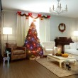 Christmas living room — Stock Photo #34696819