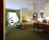 Bedroom interior in classic style — Stock Photo
