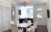 Interior da sala de jantar — Foto Stock