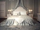 Classic bedroom interior — Stock Photo
