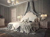 Classic bedroom interior — Foto Stock