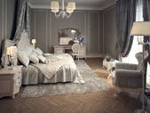 Classic bedroom interior — 图库照片