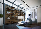 Modern living room — Stock fotografie