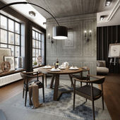 Modern dining room — Stock fotografie
