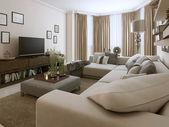 Sala de estar em estilo contemporâneo — Foto Stock
