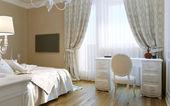 Bedrooms Baroque style — Stock Photo