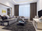 Současný styl obývací pokoj — Stock fotografie