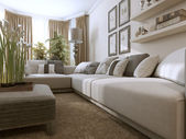 Living room in Contemporary style — Stock Photo