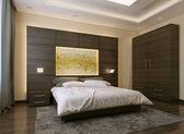 Stile moderno camera da letto — Foto Stock