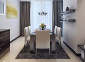 Dining kitchen modern style — 图库照片