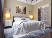 Bedroom in neoclassicism style — Stock Photo