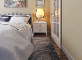 Bedroom in neoclassicism style — Stock Photo
