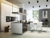 Kitchen contemporary style — Stock Photo